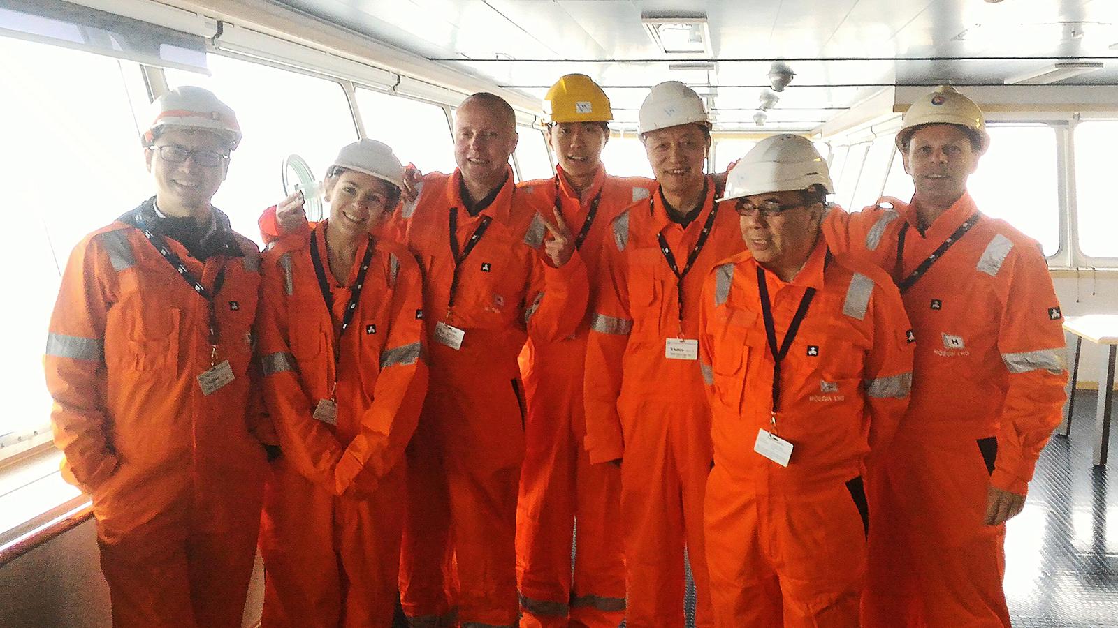 "A delegation of Hanas senior staff made a site visit to the MV ""Cape Ann"""