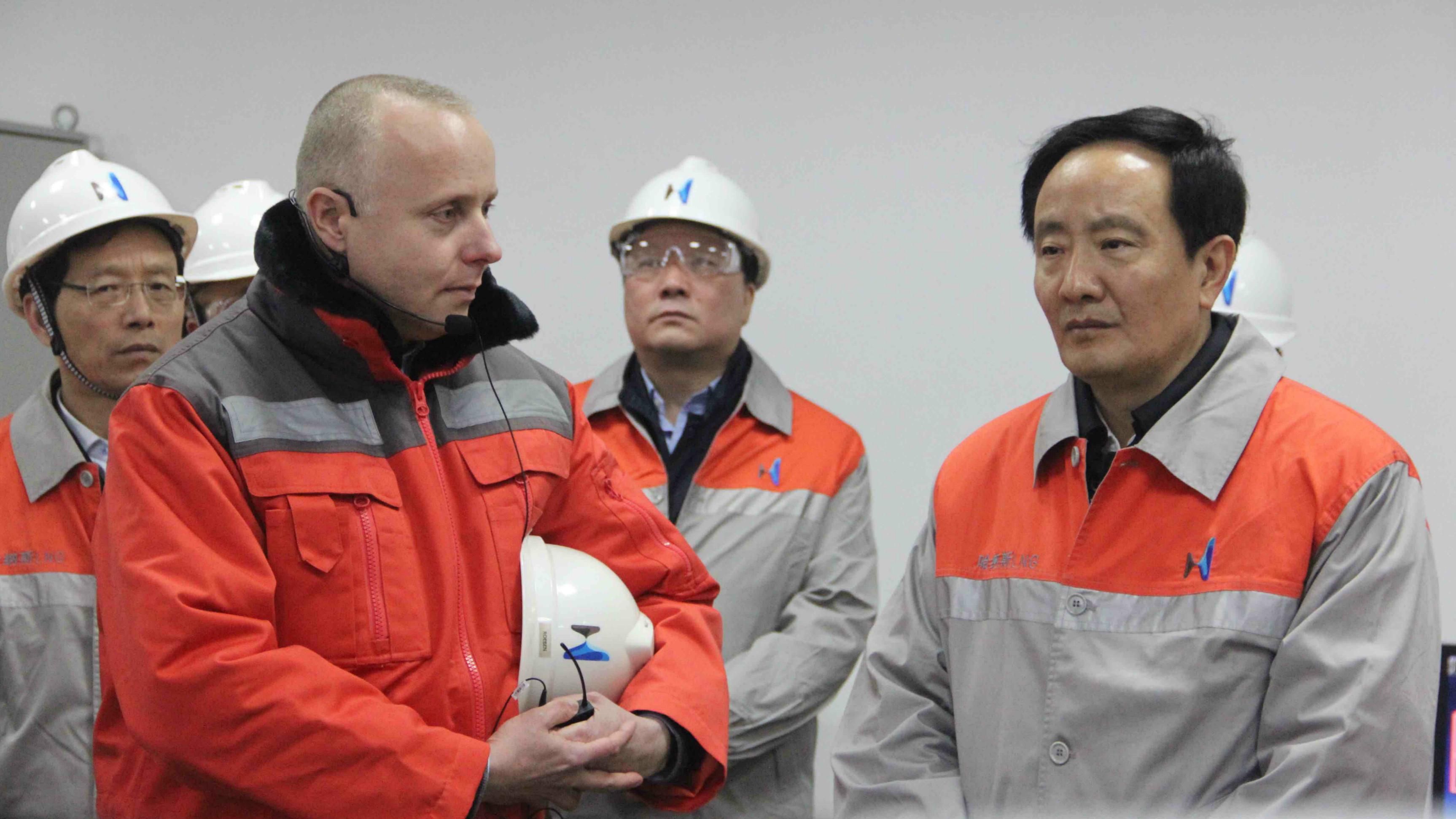 Ningxia government delegation to Hanas LNG plant