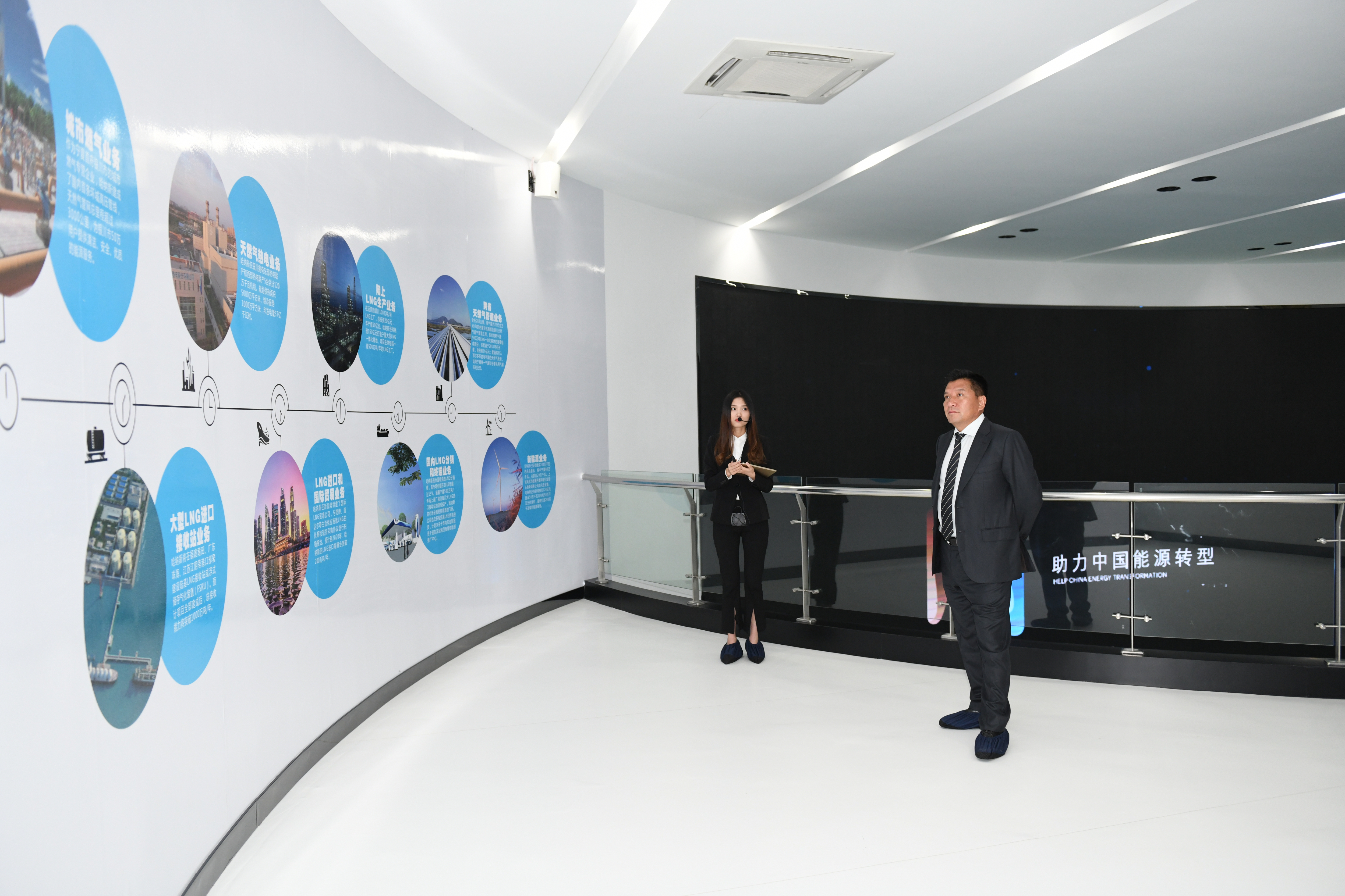 Ma Fuqiang, the Chairman of Hanas Group, and his entourage visited the Hans Putian LNG receiving station project